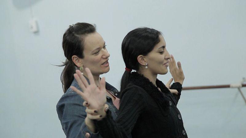 Fernanda Bianchini e bailarina principal da Cia de Ballet de Cegos